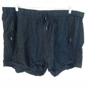 Torrid Cuffed Drawstring Linen Shorts